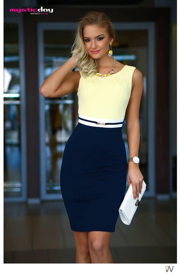 9531edf9b7 Habcukor sárga-kék nyomott pitonmintás ruha - Cool Fashion