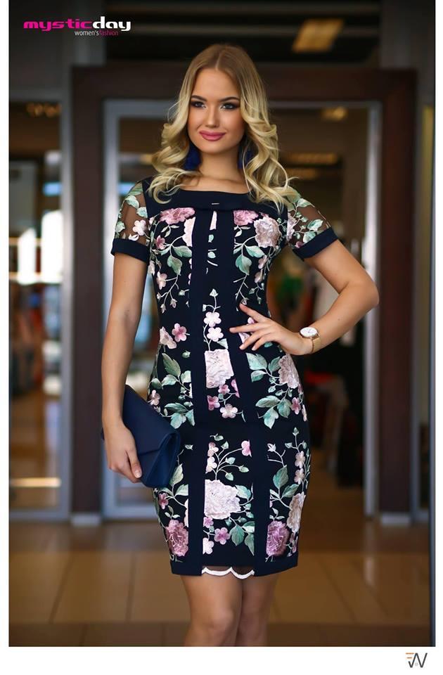 Apáca sötétkék masnis ruha - Cool Fashion 65ec43d171