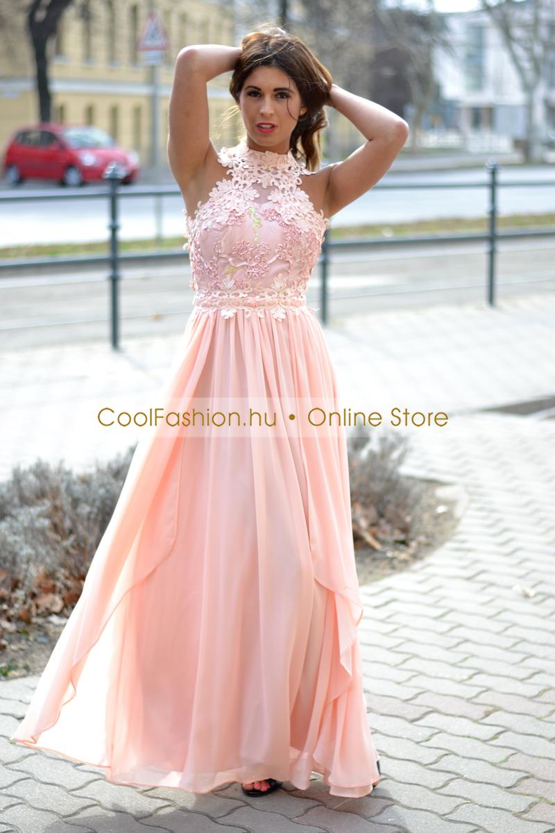 9bb6b2d84d Egyedi horgolt csipkés muszlin maxi ruha - Cool Fashion