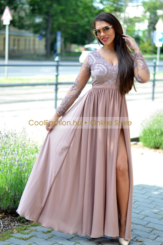 410dc8459fa8 Selymes flitteres h.ujjú maxi ruha - Cool Fashion