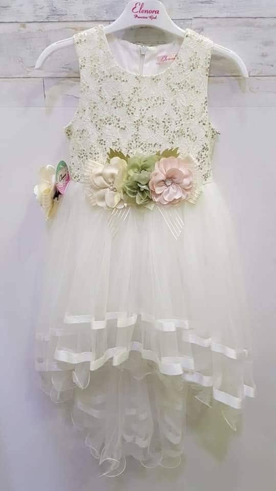 b779a013d8 Gyerek uszályos ruha fehér színű - Cool Fashion