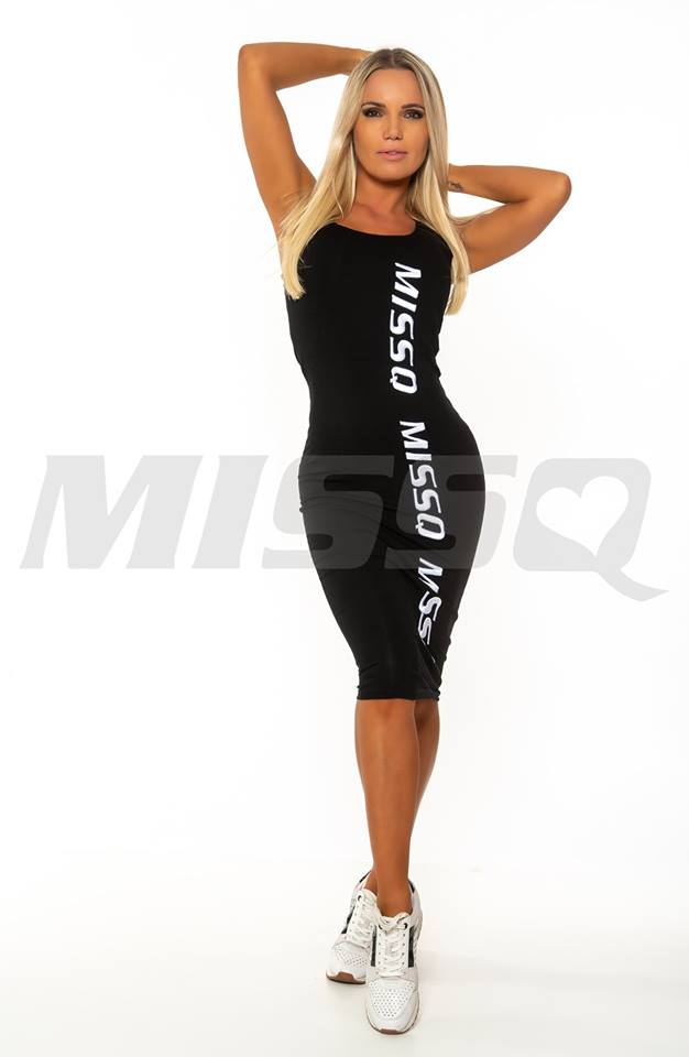 3fdc8aa4bc Ava ruha fekete oldalt felirattal - Cool Fashion