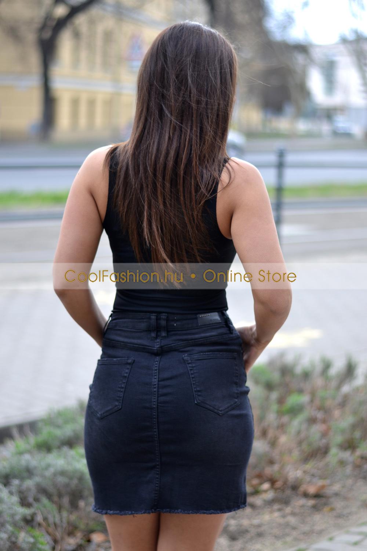 eb20c02c1a Manna fekete farmer szoknya - Cool Fashion