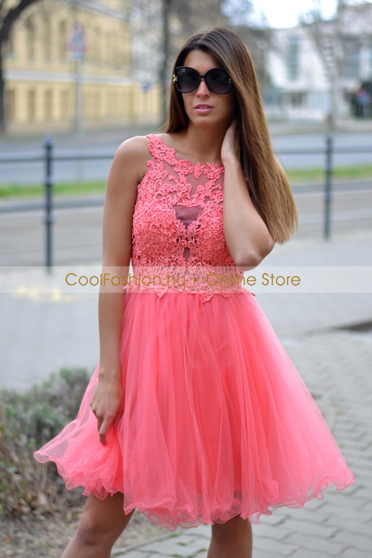 c8e2e0a74e Görög csipkés tüll ruha - Cool Fashion