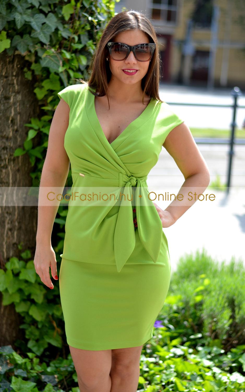 9f3b0015db Betty banánzöld ruha - Cool Fashion