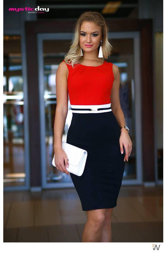 c51aed602c Habcukor piros-kék ruha - Cool Fashion