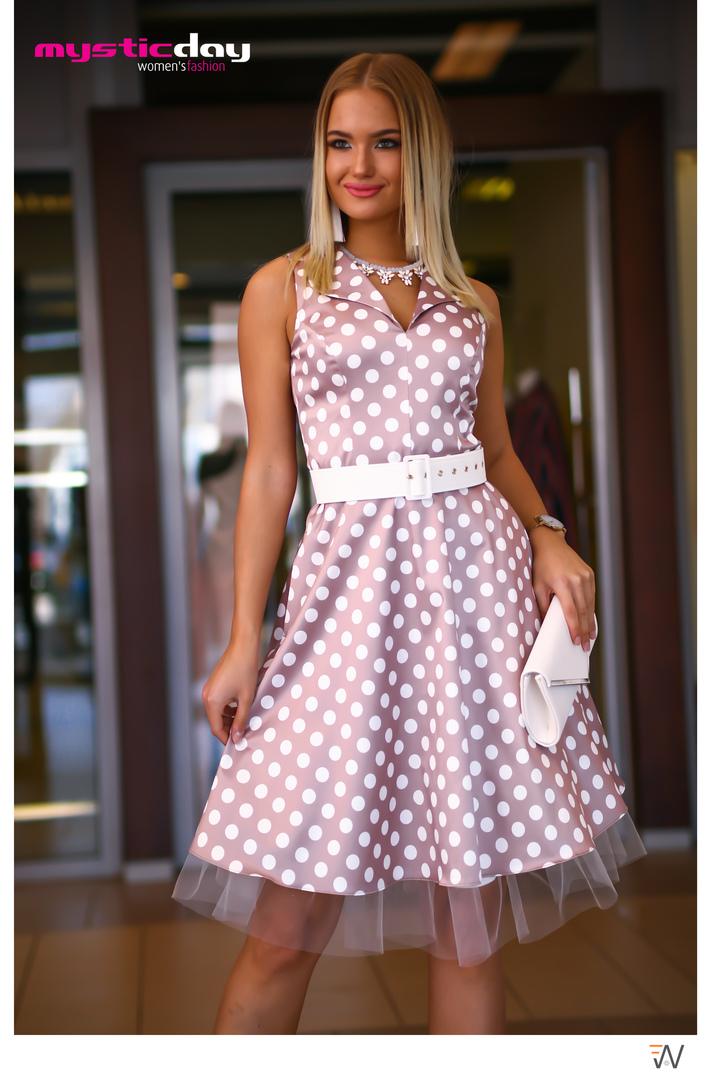 a60d0ce7a4 Heléna pretty woman pöttyös loknis tüll ruha - Cool Fashion