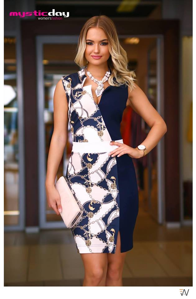 bdfd434da4 Annaléna láncmintás cikk-cakk-ruha - Cool Fashion