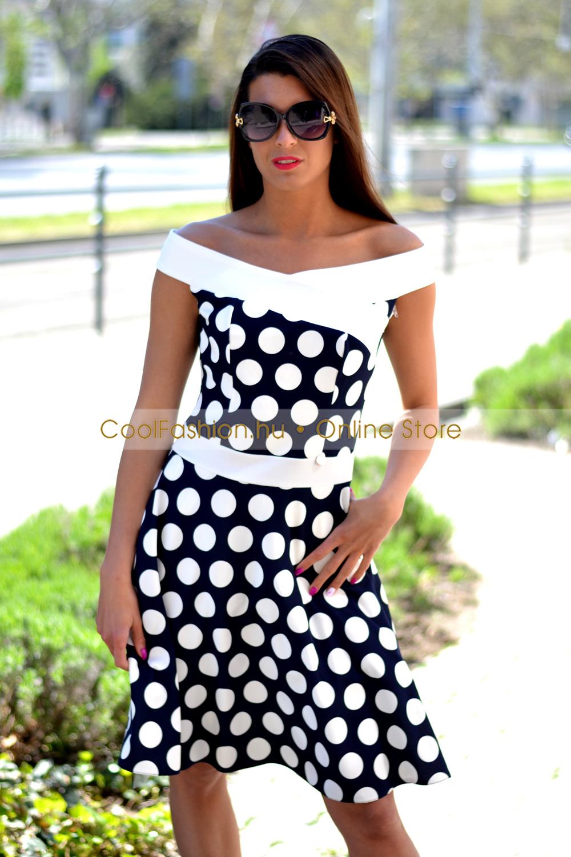 f79d4fc932 Médi nagy pöttyös loknis tüll ruha - Cool Fashion
