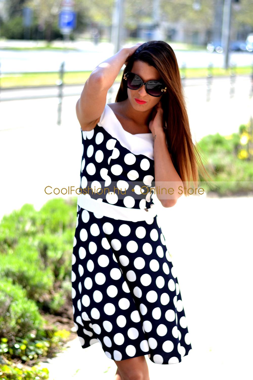 46c99004f4 Médi nagy pöttyös loknis tüll ruha - Cool Fashion
