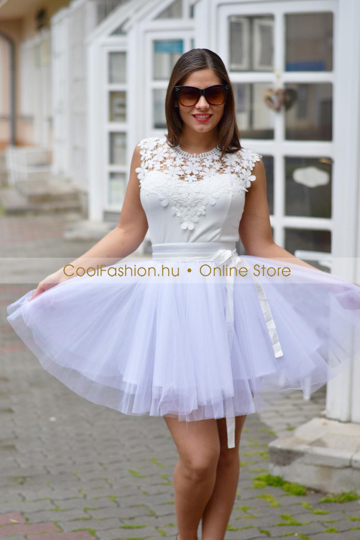 008b8246e3 Tüll fehér mini szoknya - Cool Fashion