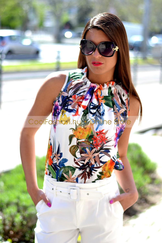 3aee049852 Margaréta selyem virágos felső - Cool Fashion