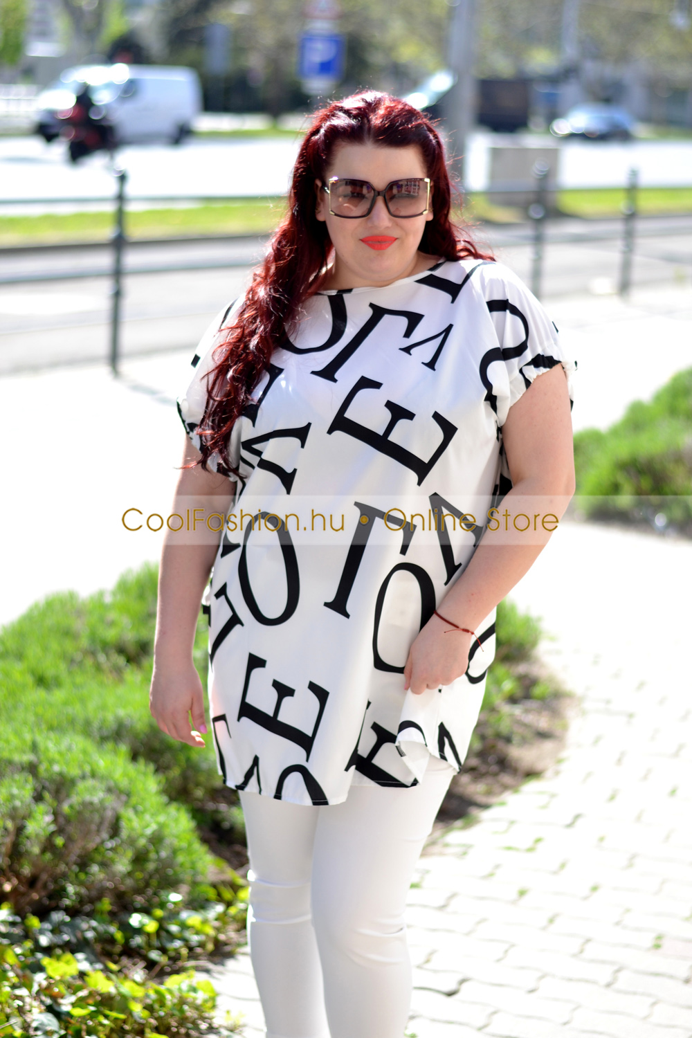 41ca9bf970 Oversize LOVE mintás ruha/tunika - Cool Fashion
