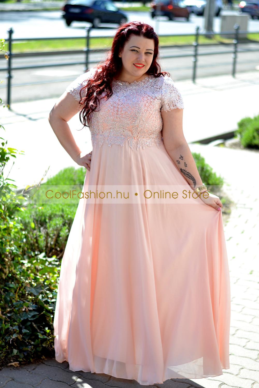 37dd76cfa4 Molett köves mintás muszlin maxi ruha - Cool Fashion