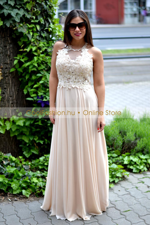 962fae9466 Köves csipkés-necc görög maxi ruha - Cool Fashion
