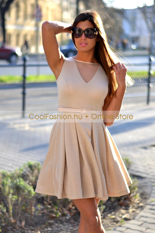 75b457d0a0 FV arany loknis lurex ruha - Cool Fashion