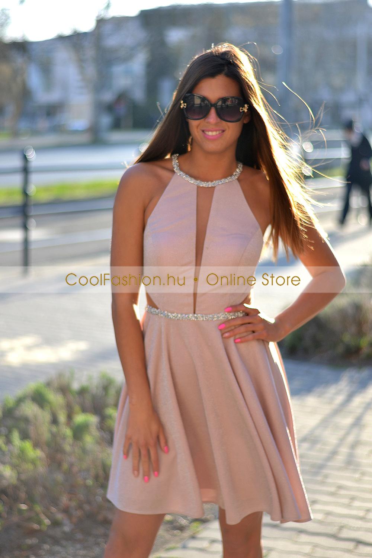 2da411609b FV necc-köves loknis lurex ruha - Cool Fashion