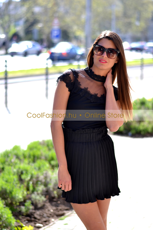 2470a24b6b LM fekete csipkés felső - Cool Fashion