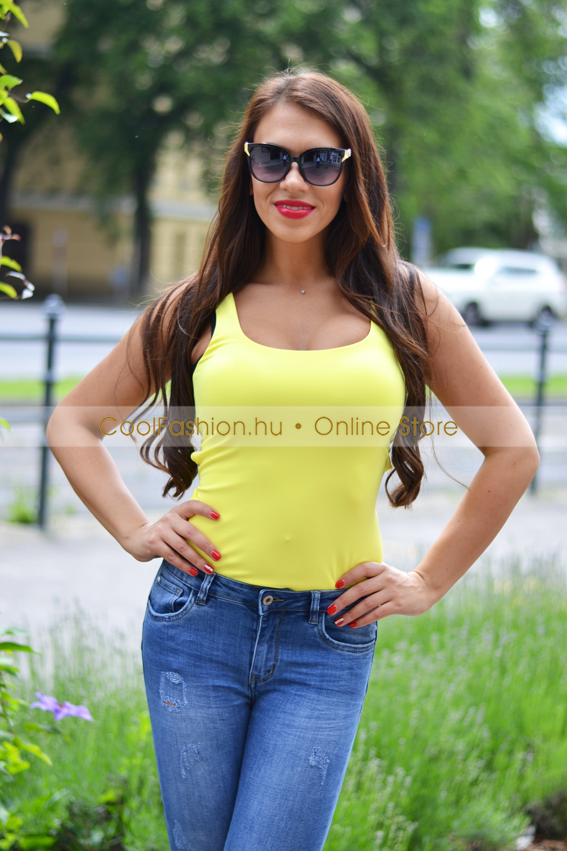 0958276f85 Sárga keresztpántos body - Cool Fashion