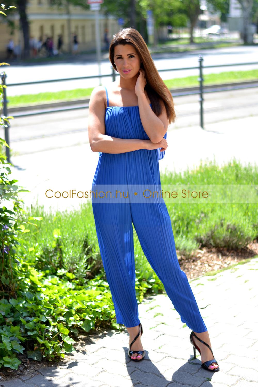 70648c9c3c Pliszírozott muszlin overáll - Cool Fashion