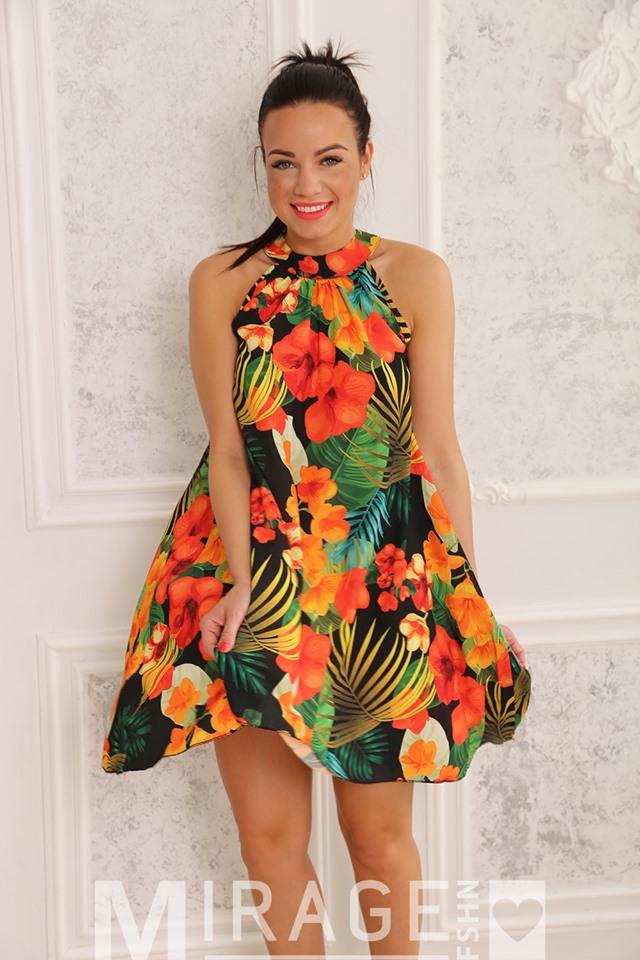 c6c52df1ae Ruby színes muszlin A vonalú ruha - Cool Fashion