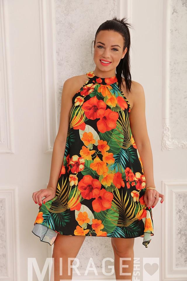 20a218010e Ruby színes muszlin A vonalú ruha - Cool Fashion