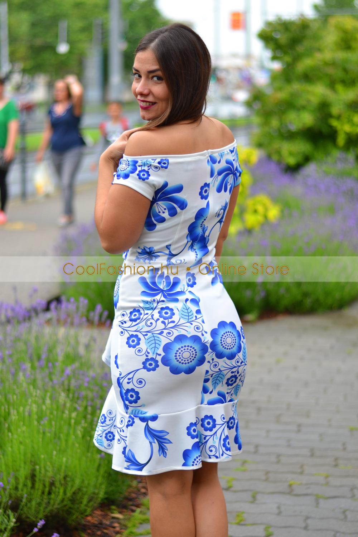 36505ffe61 Fortuna matyómintás fodros ruha - Cool Fashion
