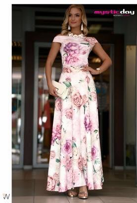 7f27189279 Viva fehér virágos maxi szoknya - Cool Fashion