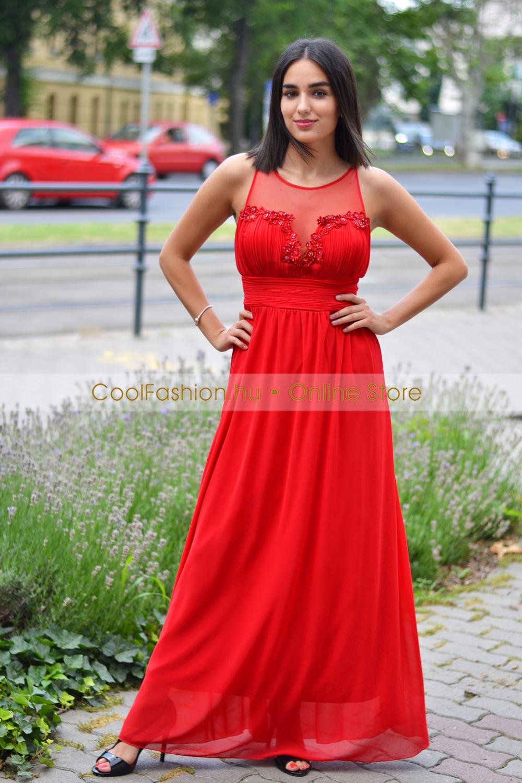 Csipkés lila masnis ruha - Cool Fashion