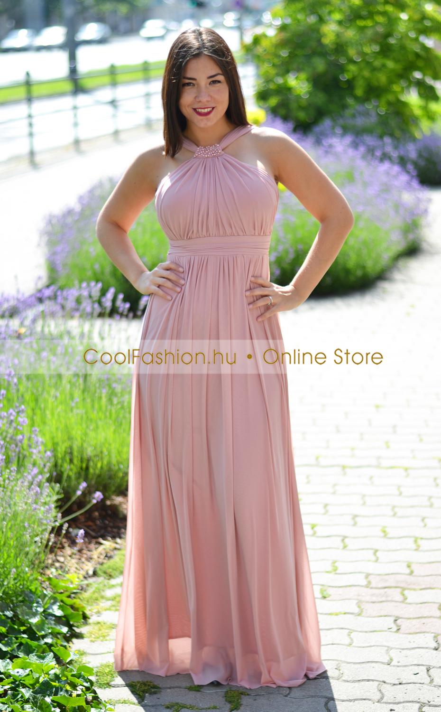 6f61364055 Mályva sexy gumistüll maxi ruha - Cool Fashion