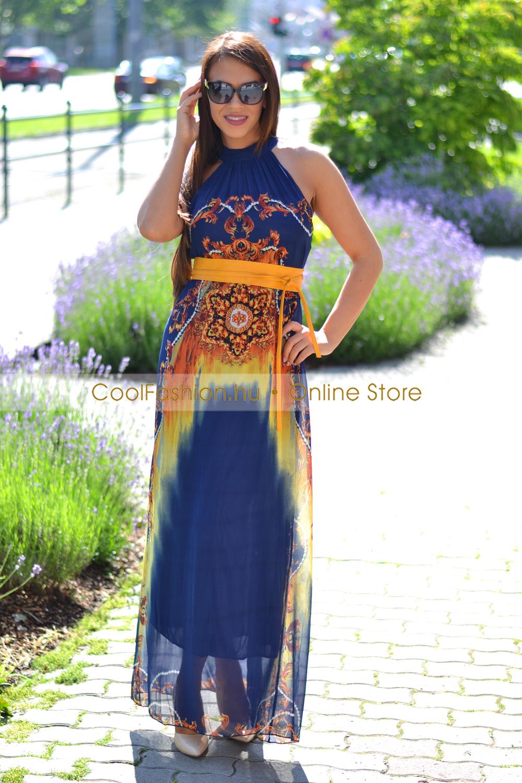 e6d42757a8 A vonalú muszlin maxi ruha - Cool Fashion