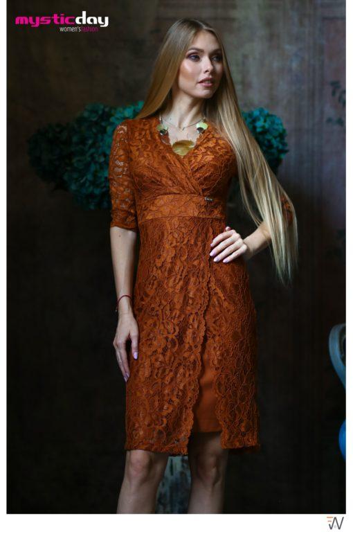 Trixi őszi  3/4 ujjas csipkés ruha
