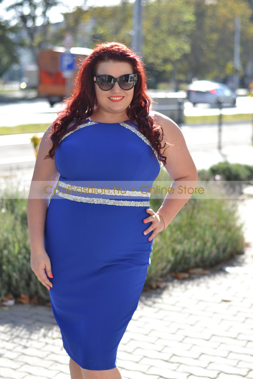 FV köves vászon ruha - Cool Fashion