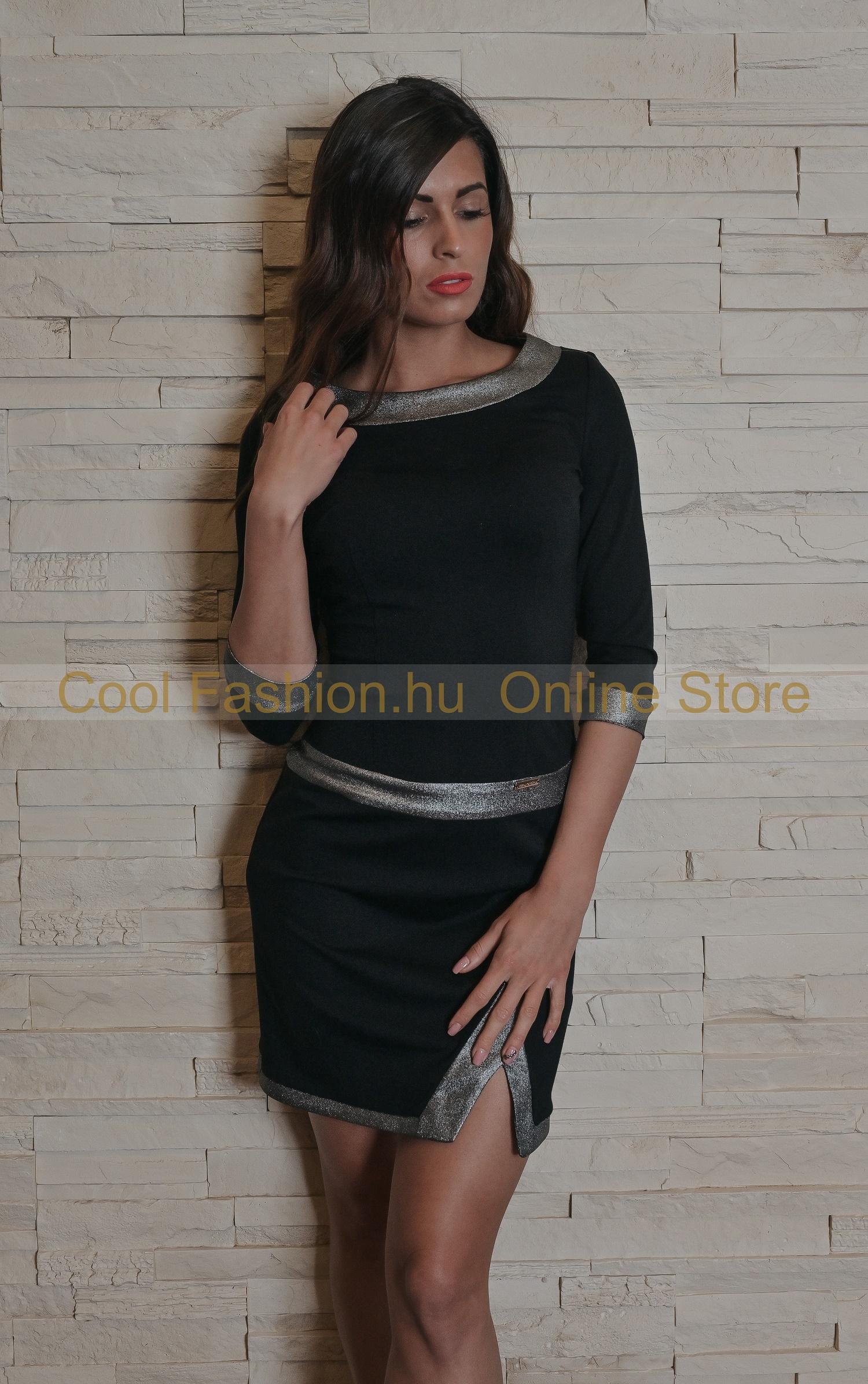 Termékleírás. Fekete ruha. S/M kiterített méretei: Teljes hossz: 92cm.