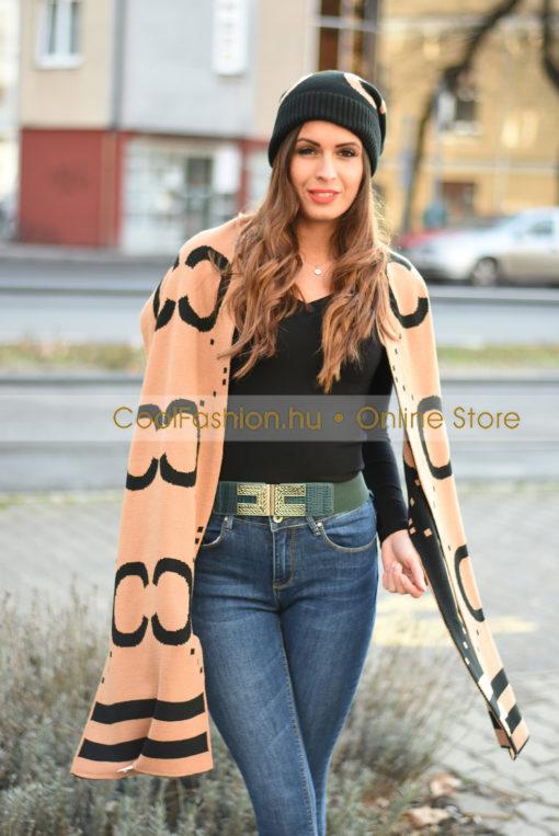 CC fekete-camel sapka
