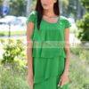 Fruzsina bennetton zöld hullám fodros ruha