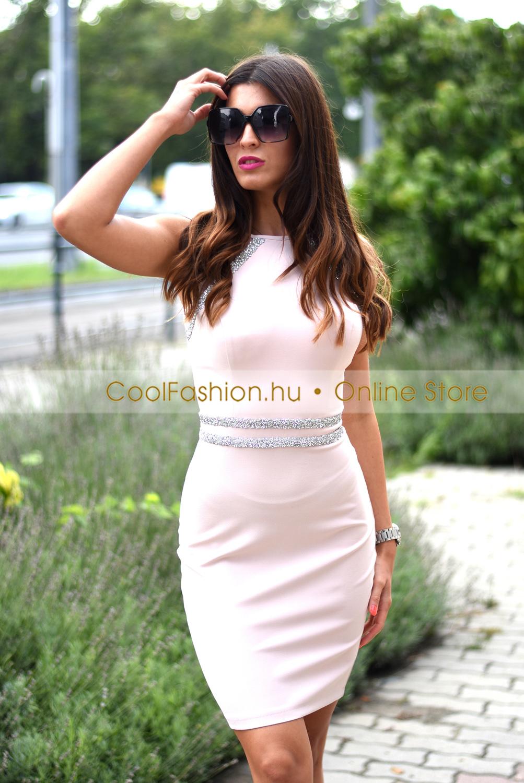 FV molett köves vászon ruha - Cool Fashion