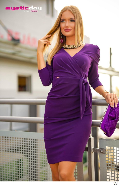 Sötétkék csipkés muszlin maxi ruha - Cool Fashion