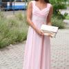 Liza babarózsaszín hosszú  ruha